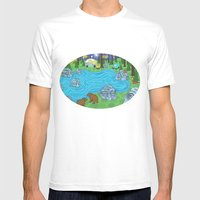 Pine Forest Mens Fitted Tee White SMALL