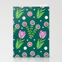 Daisies And Tulips Stationery Cards