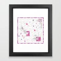 The Wildflower's Garden - Soft Grey Framed Art Print