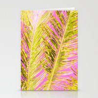 Tropical Palm Pink Yello… Stationery Cards