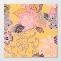 Jungle Blossoms Canvas Print