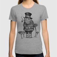 MISTER FROG Womens Fitted Tee Athletic Grey MEDIUM