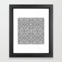 Abstract Mirror Black On… Framed Art Print