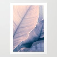 purple leafs Art Print
