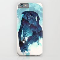 owl iPhone & iPod Cases featuring Midnight Owl by Robert Farkas