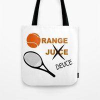 Orange Deuce Tote Bag