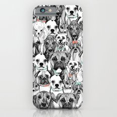 just dogs coral mint Slim Case iPhone 6s