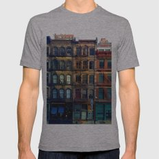 Tribeca, NY Mens Fitted Tee Athletic Grey SMALL