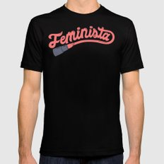 Feminista Black Mens Fitted Tee SMALL