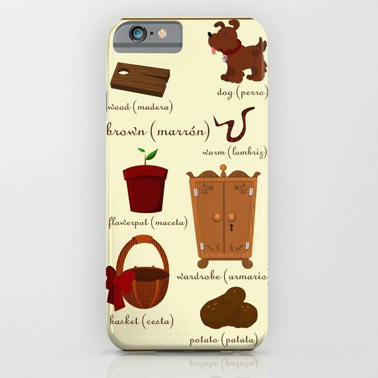 Colors: brown (Los colores: marrón) iPhone & iPod Case