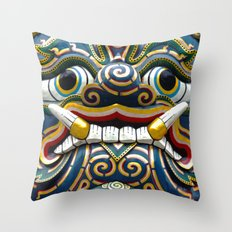 BANGKOK - Grand Palace | Thailand | Travel | Photography | Statue | Summer | Demon Throw Pillow
