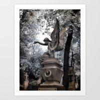 Cemetery Angel - Infrare… Art Print
