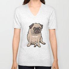 Fat Pug Unisex V-Neck