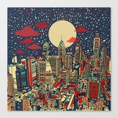 Philadelphia City Skylin… Canvas Print