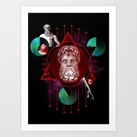 Geometric Gods Art Print