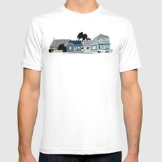 Carrington  White Mens Fitted Tee SMALL