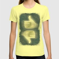 ok Womens Fitted Tee Lemon SMALL