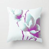 Magnolia Art Throw Pillow