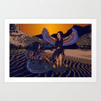 Medusa of Music meets Lilith Art Print