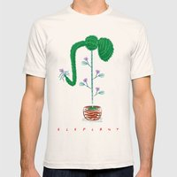 Eleplant Mens Fitted Tee Natural SMALL