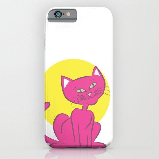 Magenta Cat iPhone & iPod Case