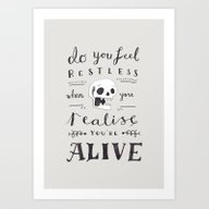 Art Print featuring Do You Feel Restless… by Sam Lyne
