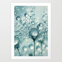 Droplets & Sparkles Art Print
