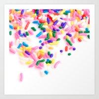 Ice Cream & Sprinkles Art Print