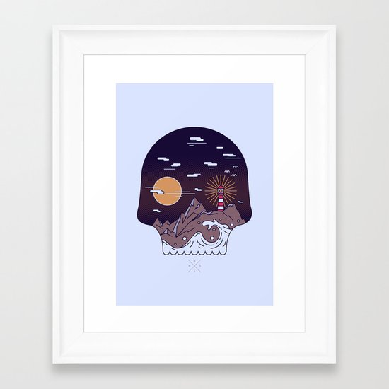 Skull Pier Framed Art Print