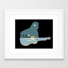 lonely song Framed Art Print