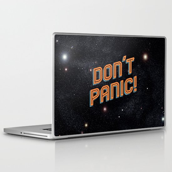 Don't Panic Laptop & iPad Skin
