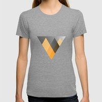 Landscape in Orange Womens Fitted Tee Tri-Grey SMALL