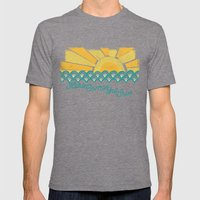 Here Comes the Sun Mens Fitted Tee Tri-Grey SMALL
