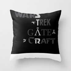 Geek All Stars Throw Pillow