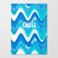 CHILL BEACH WAVE Canvas Print