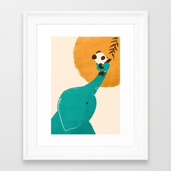 Panda's Little Helper Framed Art Print