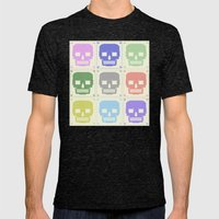 quilt of grrr (born to die). Mens Fitted Tee Tri-Black SMALL