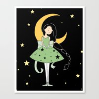 Moonlight Ballerina Canvas Print
