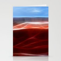 Artistic red Desert Stationery Cards