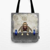 Sock Monkey Bodybuilder Tote Bag
