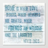 Home Of Love And Laughte… Canvas Print