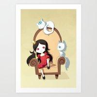 princess Art Prints featuring Princess by Freeminds
