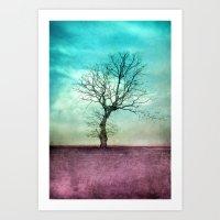 ATMOSPHERIC TREE II Art Print