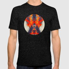 Abstract Triangle Mountain Mens Fitted Tee Tri-Black SMALL
