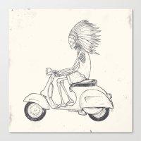 Indian Rider Canvas Print