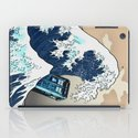 Blue phone Box Vs The great Big Wave iPhone 4 4s 5 5c 6, pillow case, mugs and tshirt iPad Case