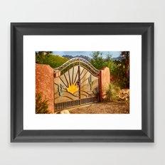 Sunny Gate Framed Art Print