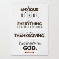 Philippians 4:6 Canvas Print
