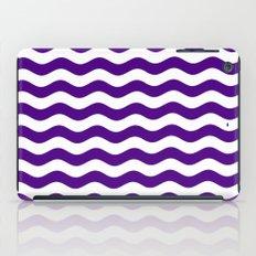 Wavy Stripes (Indigo/White) iPad Case