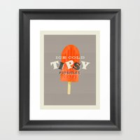 Tipsy Popsicles Framed Art Print